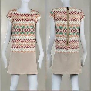 Hugo Boss Adrucka Tribal Woven Dress Sz 2